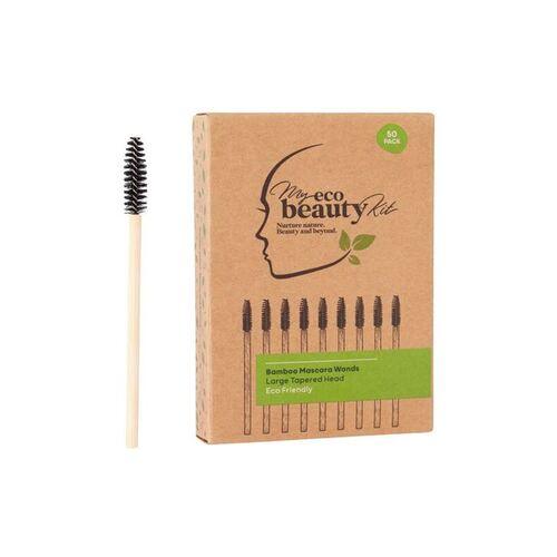 MY ECO BEAUTY KIT - Bamboo Disposable Mascara Wands - Large Tapered head 50pk