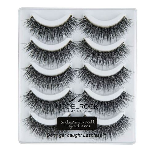 *MULTI PACK* Smokey Velvet - Double Layered - 5 pair lash pack