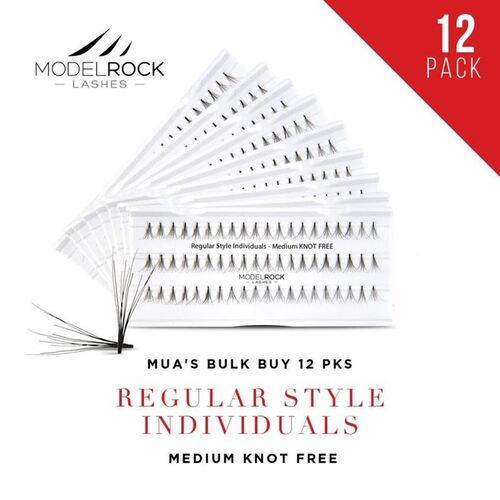 WEBSITE ONLY EXCLUSIVE - Regular Style Individuals  MEDIUM Knot Free 'BULK BUY 12 PKS'
