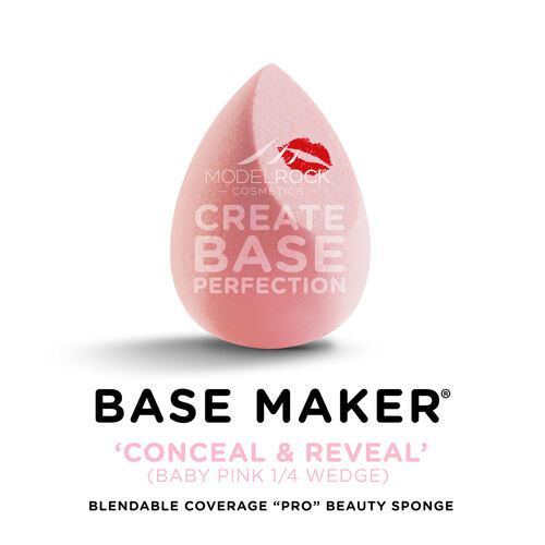 "BASE MAKER - Blendable Coverage ""Pro"" Beauty Sponges® 1pk (DARK PINK)"