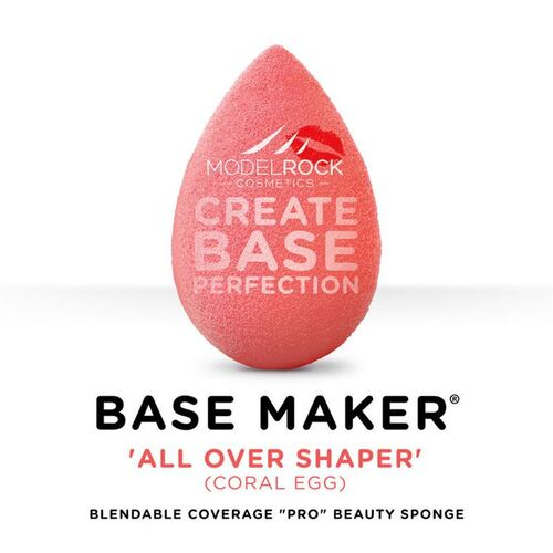 "BASE MAKER - Blendable Coverage ""Pro"" Beauty Sponge 1pk (PINK)"