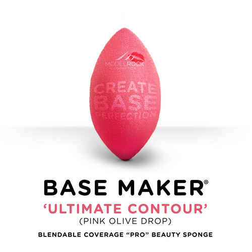 Base Maker® - Single Sponge - 'ULTIMATE CONTOUR' (Pink Olive Drop)