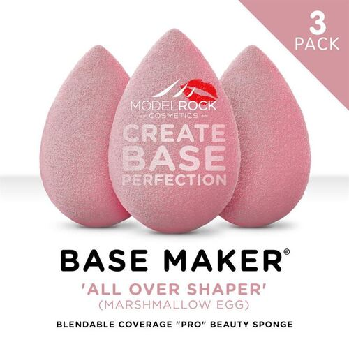 PRO 3PK - Base Maker® Beauty Sponge -'ALL OVER SHAPER' (Marshmallow Pink Egg)