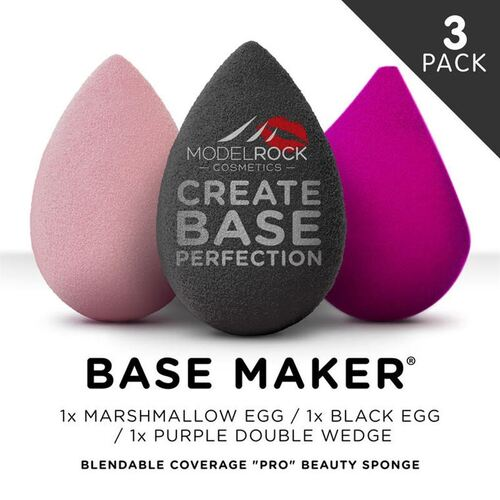 PRO 3PK - Base Maker® - **Mixed Colours** - Black Egg / Marshmallow Egg / Purple Wedge