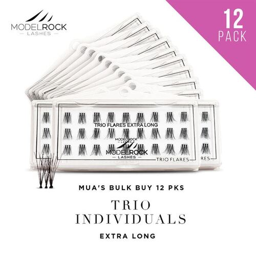 WEBSITE ONLY EXCLUSIVE - TRIO Flares Individual Lashes  - **EXTRA LONG** 14mm - 'BULK BUY 12 PKS'